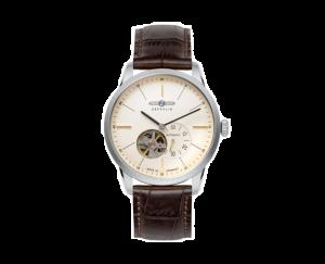 Uhr, Herrenarmbanduhr, Zeppelin, Flat Line Automatik