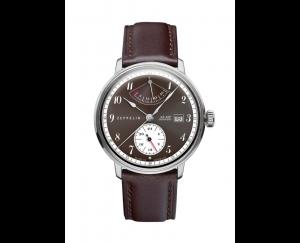 Uhr,Zeppelin, Herrenarmbanduhr, Hindenburg_Automatik_Gangreserve