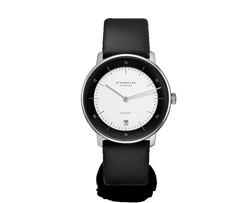 Uhr, Herrenarmbanduhr, Sternglas, NAOS, Bauhaus, Premium