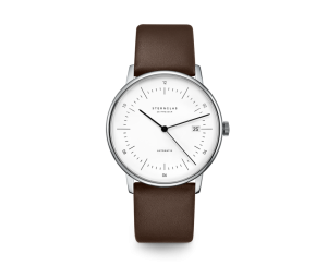 Uhr, Herrenarmbanduhr, Sternglas, NAOS, weiss, braun