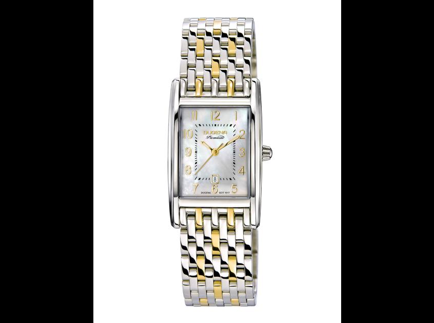 Uhr, Damenarmbanduhr, Dugena, Quadra Artdéco
