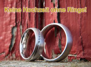 Keine Hochzeit ohne Ringe